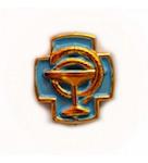 Эмблема крест синий