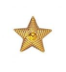 Звезда золотистая 20 мм